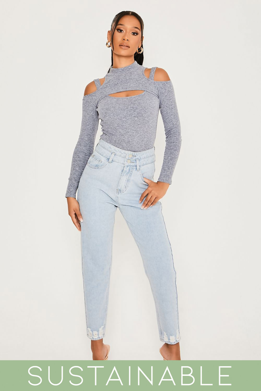 Grey-Blue-Recycled-Rib-High-Neck-Cut-Out-Thong-Bodysuit-1.jpg