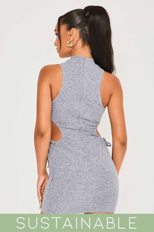Grey-Blue-Recycled-Rib-High-Neck-Cut-Out-Waist-Drawstring-Mini-Dress-5.jpg