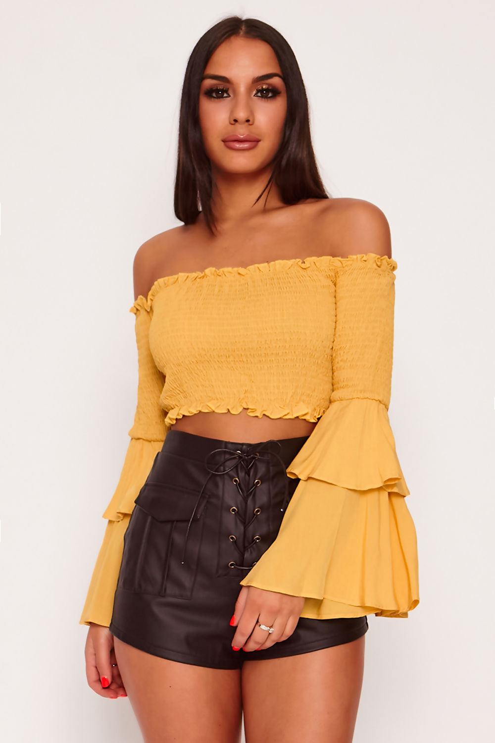 ST120-Mustard-Bardot-Shirring-Detail-Flare-Sleeve-Crop-Top-cropped-in.jpg