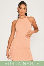 Coral-Recycled-Rib-Low-Back-Halter-Neck-Mini-Dress-4.jpg