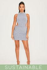 Grey-Blue-Recycled-Rib-High-Neck-Cut-Out-Waist-Drawstring-Mini-Dress-1.jpg