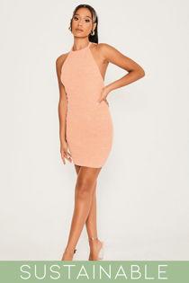 Coral-Recycled-Rib-Low-Back-Halter-Neck-Mini-Dress-5.jpg