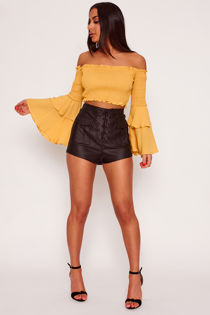 ST120-Mustard-Bardot-Shirring-Detail-Flare-Sleeve-Crop-Top-full-length.jpg